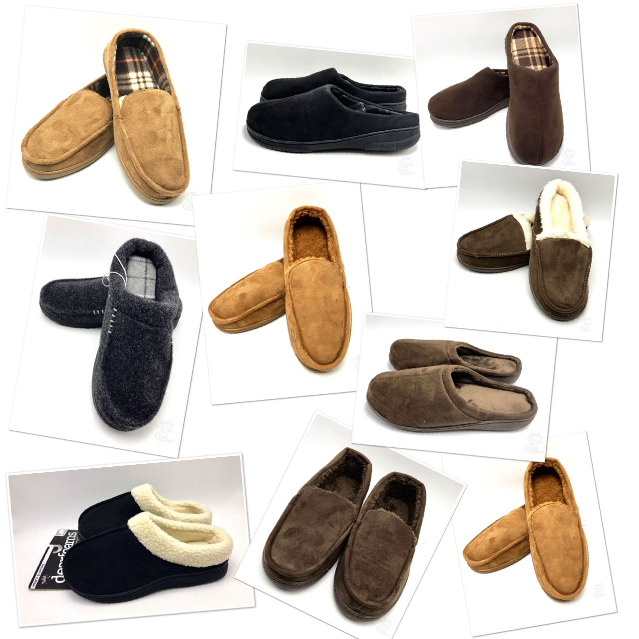 Mens Memory Foam Slippers Dearfoams Or Order Home Collection Many Colors Sizes