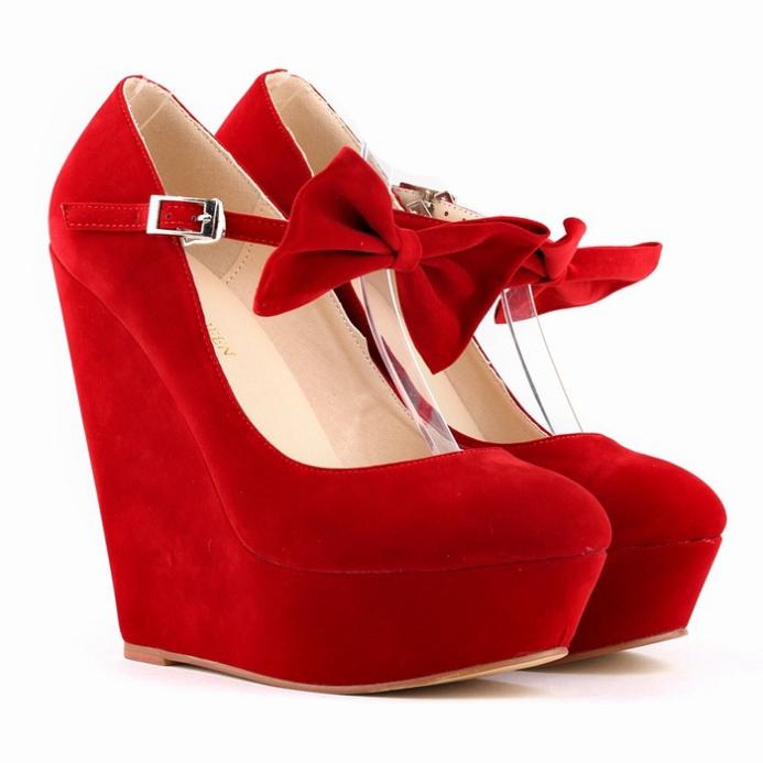 Fashion Solid Color High Platform Lace Up Flats Shoes