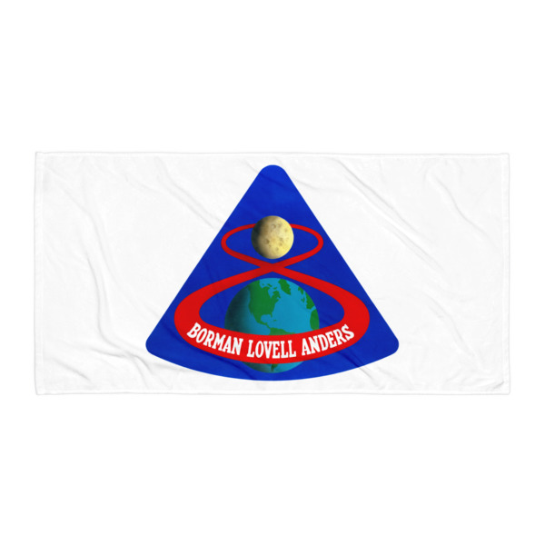 Apollo 8 Mission Patch Beach Blanket