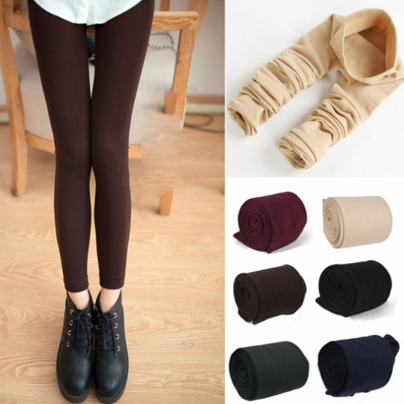 New Womens Warm Winter Skinny Slim Leggings Stretch Pants Thick Footless Tights