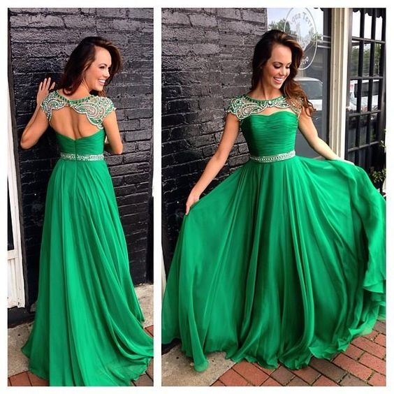Sparkle Evening Gown-green Prom Dresses-backless Prom Dresses-green Prom Gowns-party Dresses 2017-long Prom Gown-prom Dress-sparkly Party Gowns