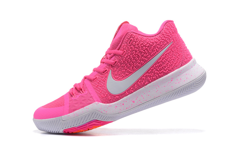 Newest Nike Kyrie 3 Ep Iii Irving Vivid Pink White Mens Athletic Sport Basketball Shoes
