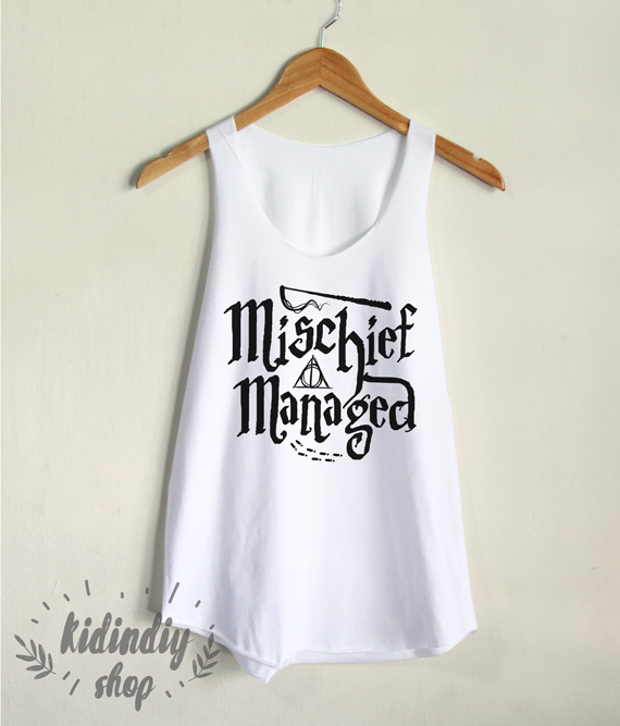 749f8fe4bf9fb Mischief Managed Tank Top Harry Potter Shirt Hogwarts Women Tank Clothing  on Storenvy
