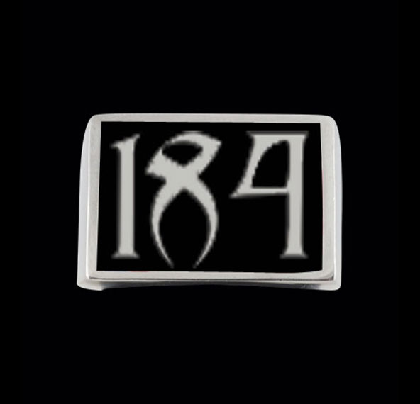 Stainless Steel 184 3 Number Ring Free Re-size/shipping