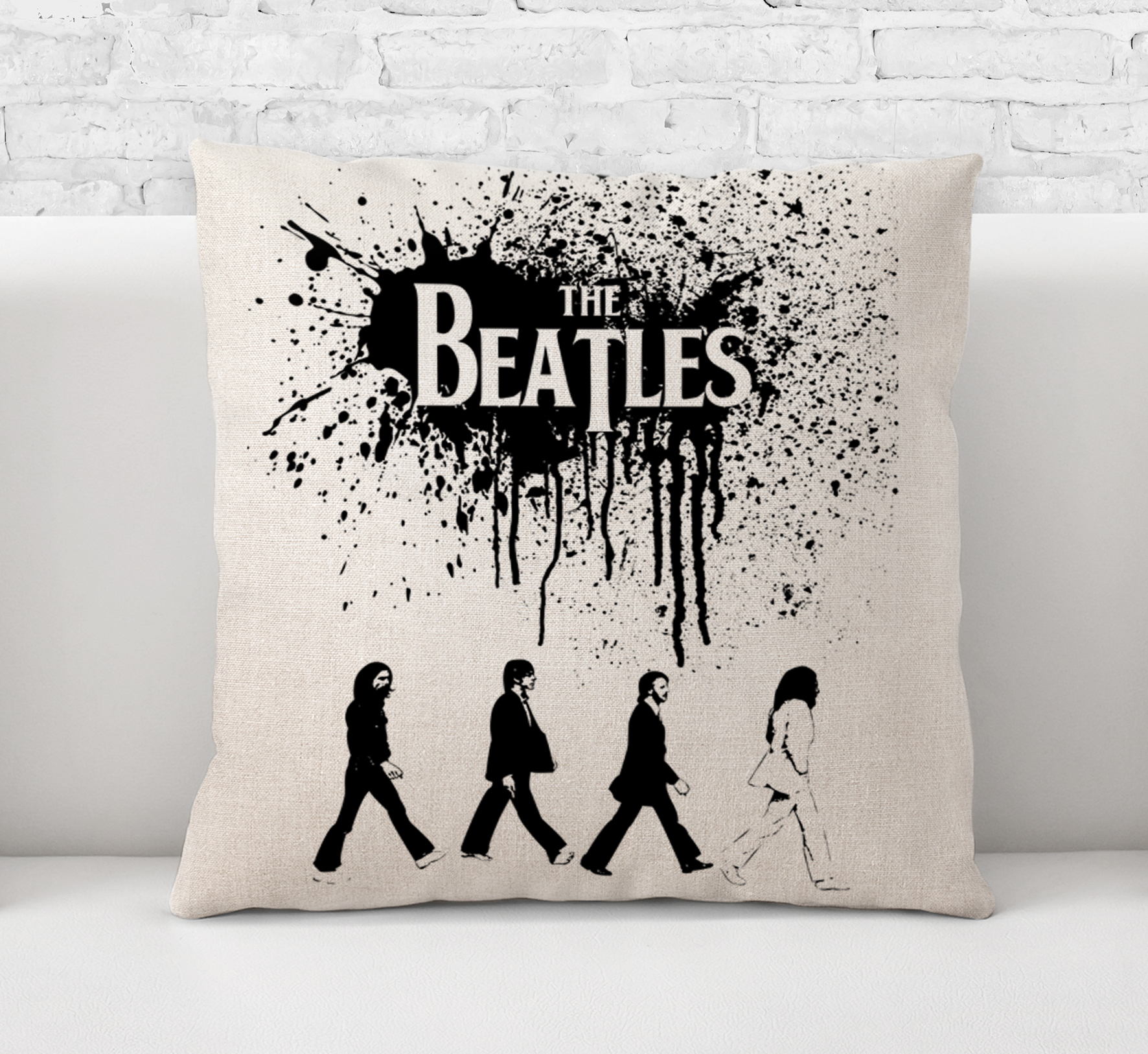 Throw Pillow CaseCushion Cover The Beatles Abbey RoadRock And RollPop MusicLegend60s Band Art 0129