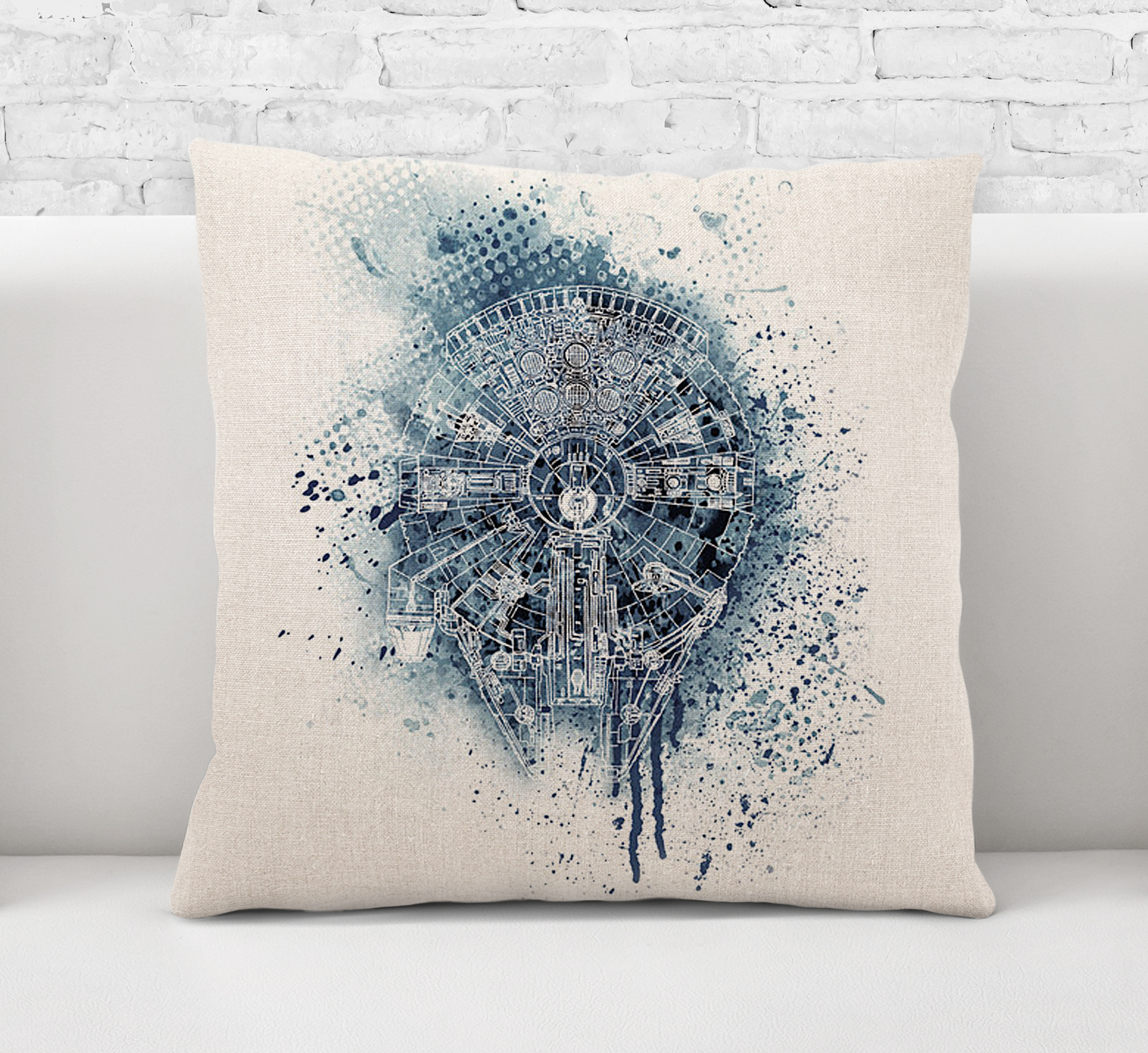 Throw Pillow CaseCushion CoverMillennium Falcon Star Wars Acrylic Painting Art0564