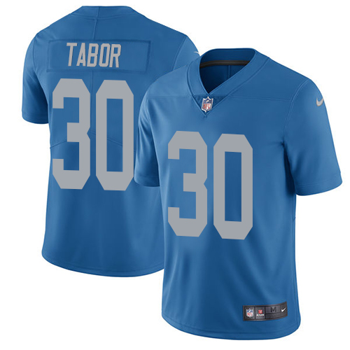 Nike Lions #30 Teez Tabor Blue Throwback Mens Stitched Nfl Vapor Untouchable Limited Jersey