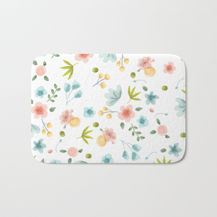 Flower Bed Pattern Home Decor Bathroom Mats Curtains And Hand Towels Bath Towels Beach Towels By Marmalade June