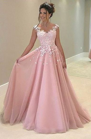 eed94351d62 E115 20lace 20appliques 20pink 20tulle 20prom 20gowns 2c 20fashion 20lady  20prom 20dresses 2c 20charming 20lady 20dresses