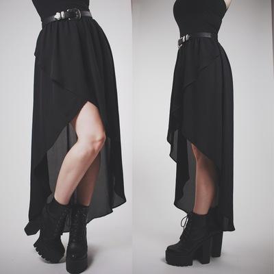 7965ce101b Claimed @shelbylynnec92 - black high-low chiffon maxi skirt