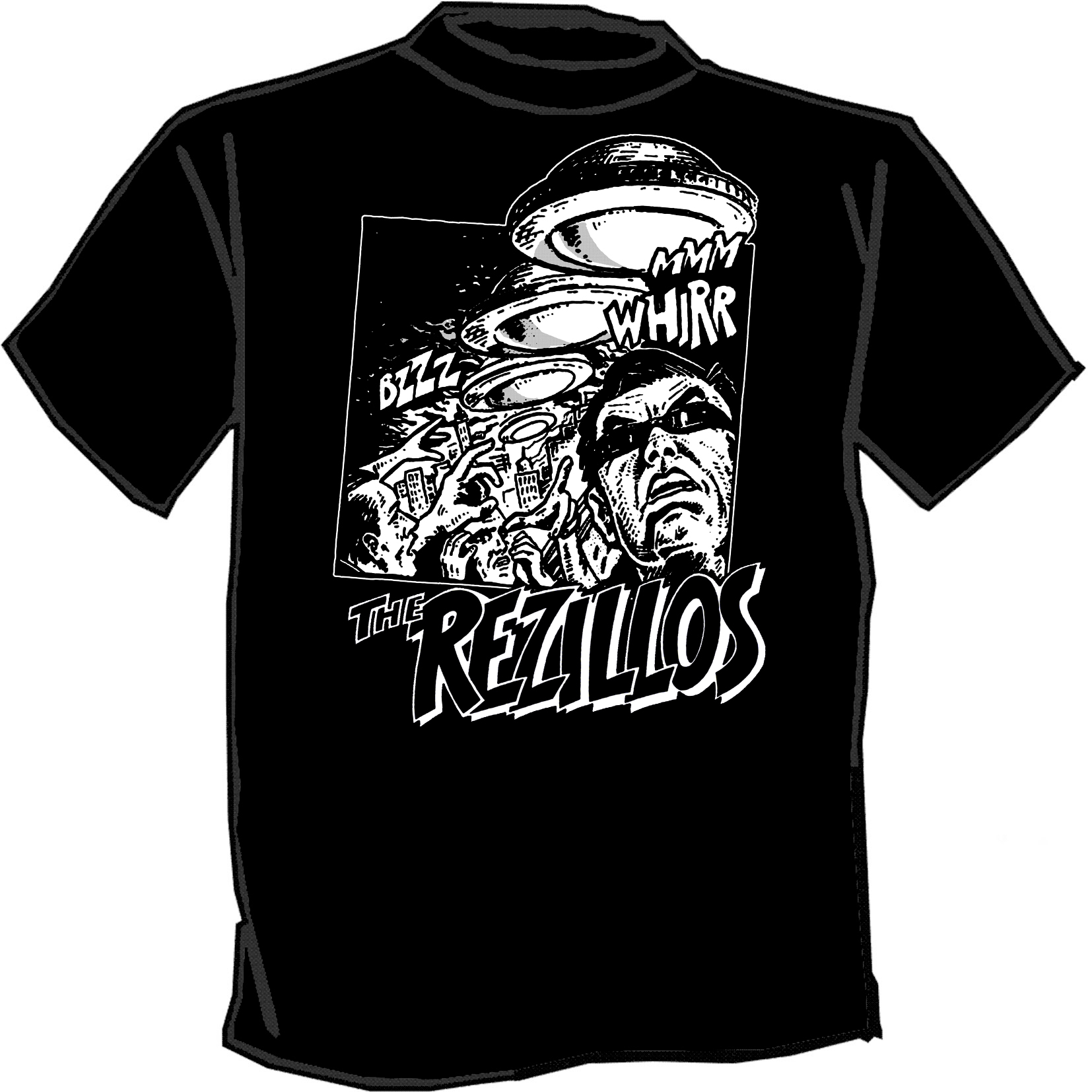 cdb461550 REZILLOS silk screened t-shirt SCREENPRINTED punk revillos new wave ...