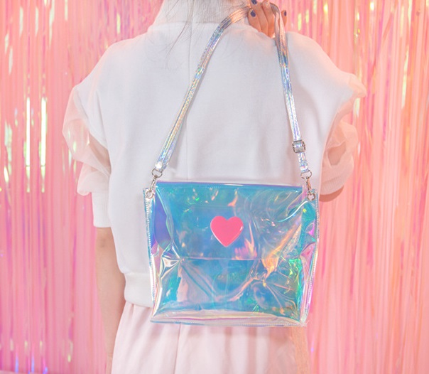Holographic Pink Heart Purse (70391345 Cute Click™) photo