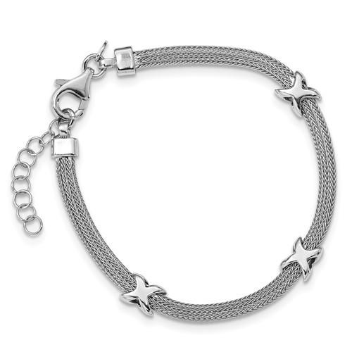 Lumax Leslies Sterling Silver Polished With 1 In Ext Bracelet