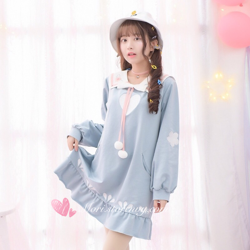 Comfy Spring Date Bowknot Dress Sweet Embroidery Robe