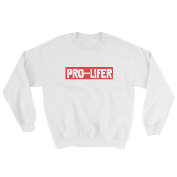 Pro-lifer (red) Mens Sweatshirt