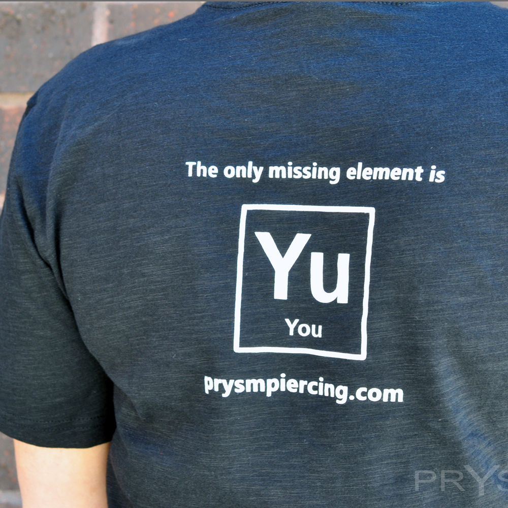Quot Periodic Table Of Body Piercing Quot T Shirt 183 Prysm Body