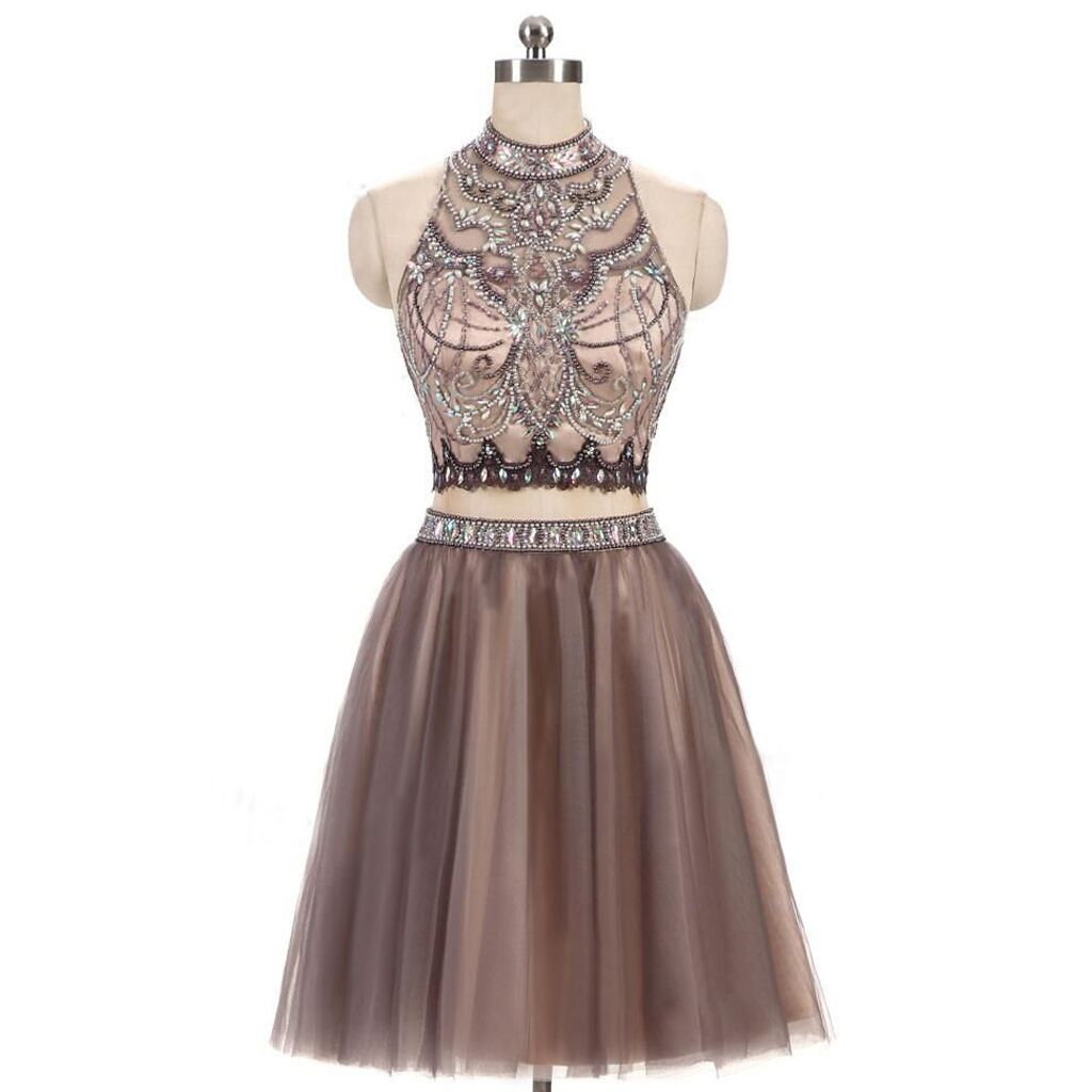 Two piece homecoming dress, beaded