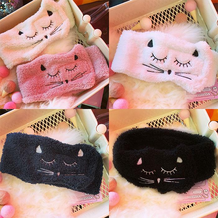 Fluffy Face Wash Cat Hairband