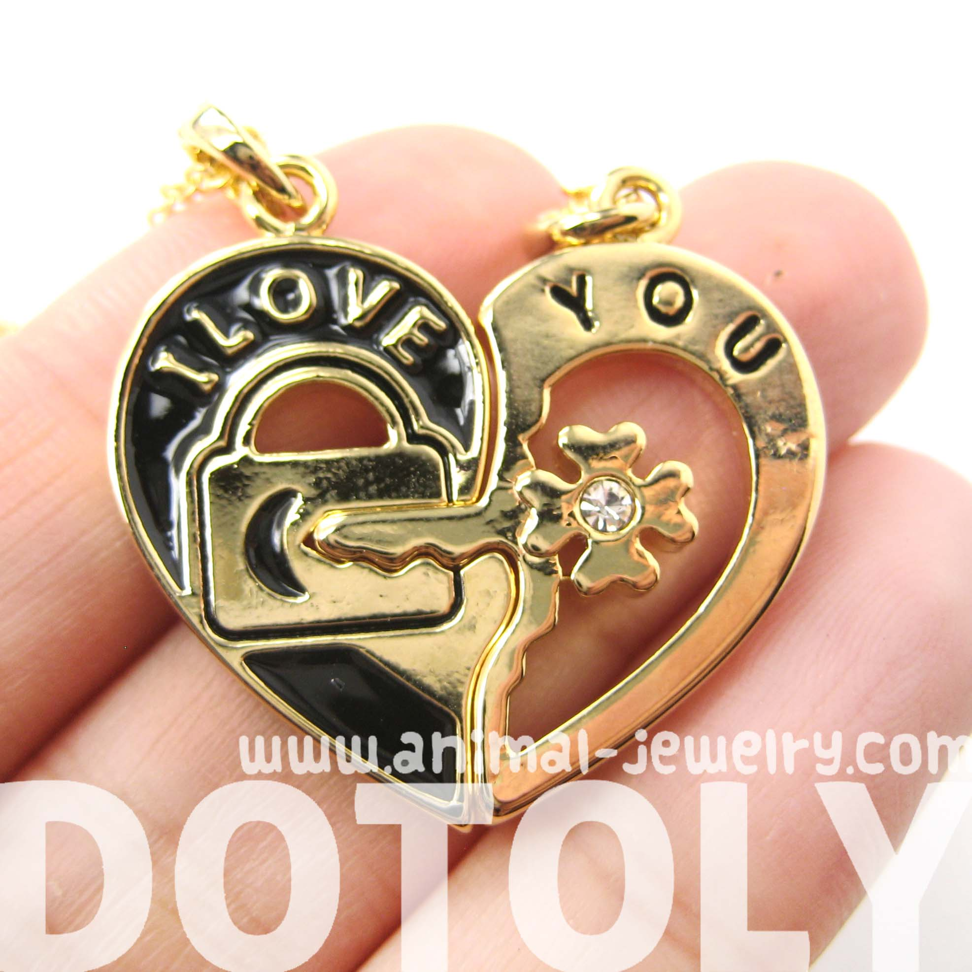 Couples 2 piece heart shaped i love you lock and key pendant 2 piece heart shaped lock and key i mozeypictures Image collections
