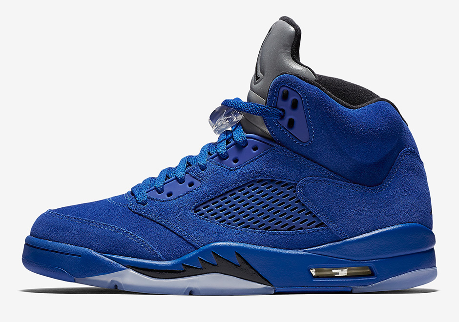 "on sale dbb5c a9324 AIR JORDAN 5 ""BLUE SUEDE"" Color: Game Royal/Black-Game Royal Style Code:  136021-401 Men8- 13 from FreshnUp"