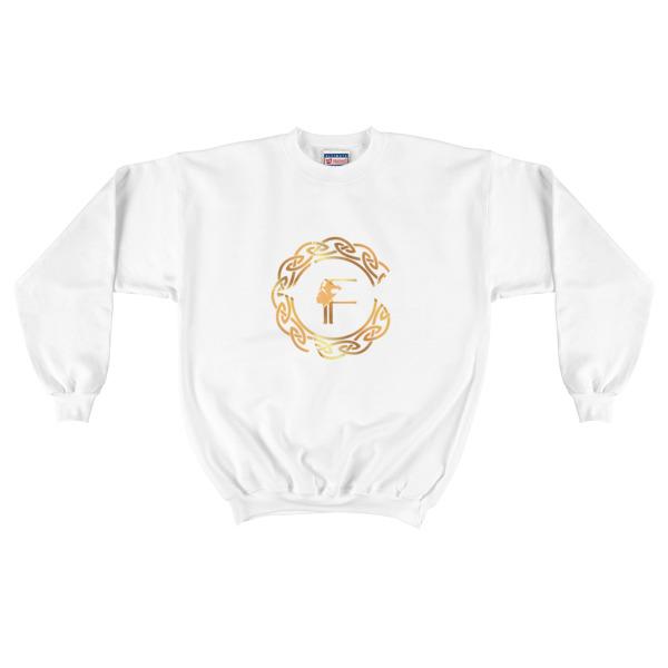 Mens Gold Fertiti Logo Crewneck Sweatshirt