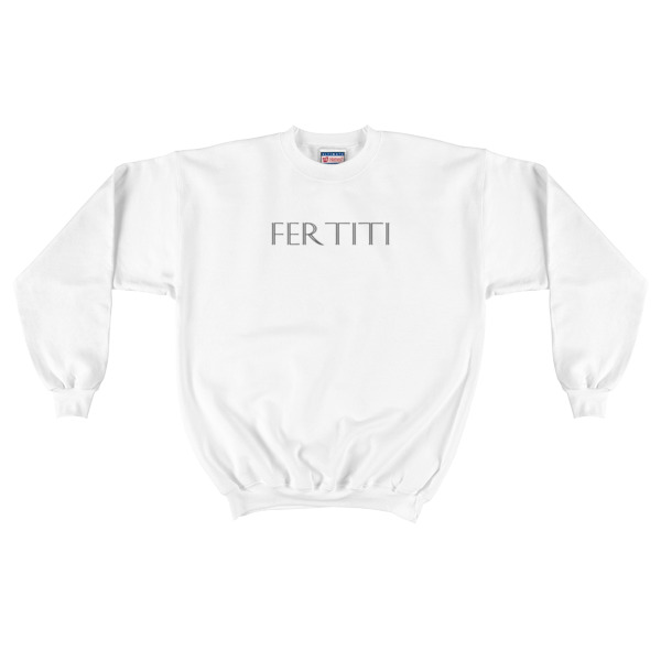 Mens Grey Fertiti Crewneck Sweatshirt