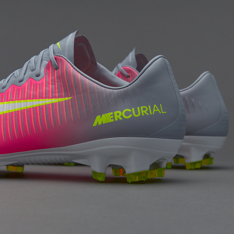 quality design f4886 236b2 Nike Cleats Mercurial Superfly V FG Grey Pink White Yellow sold by  cleatssale4A