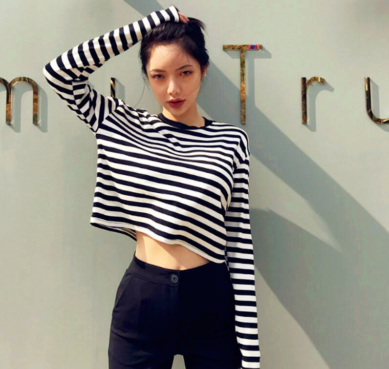 black and white striped shirt tumblr