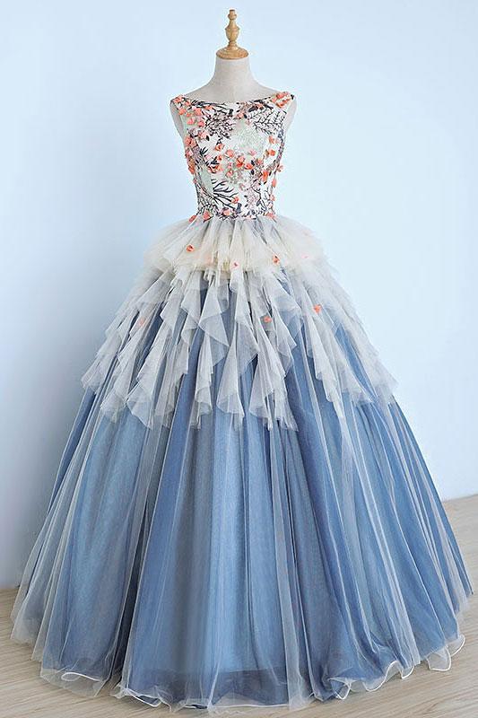 Charming Prom DressSexy Sleeveless Prom DressTulle Evening DressFormal Gown F1794