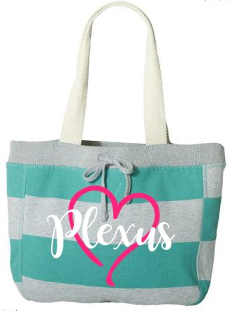 Plexus Striped Beach Bag Or Grocery Tote Plexus Swag Gear Beachbag