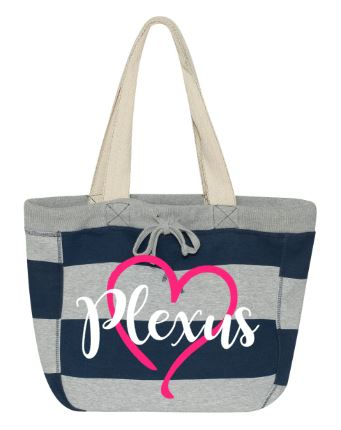 Plexus Striped Beach Bag Or Grocery Tote Plexus Swag Gear Beachbag
