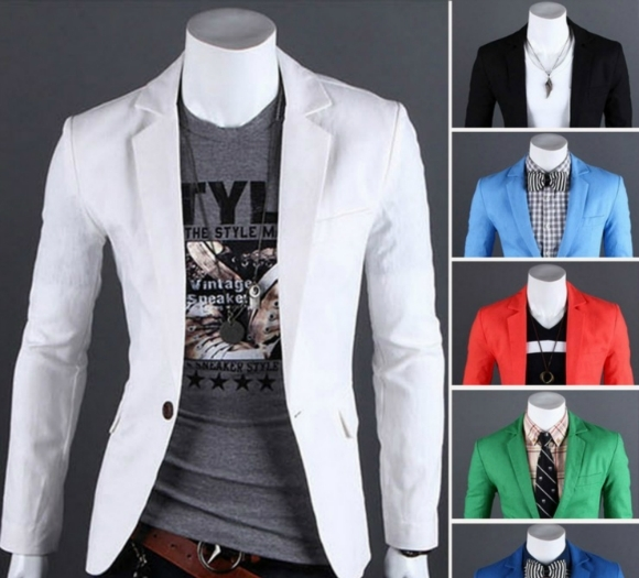 Slim Blazer Mens Casual Small Suit Jacket Thin