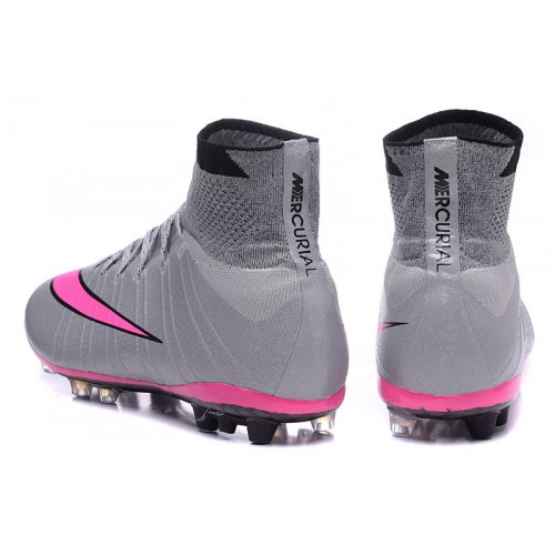 run shoes 2018 shoes arrives Nike Mercurial Superfly AG Wolf Grey Hyper Pink Black sold by Cleats23A