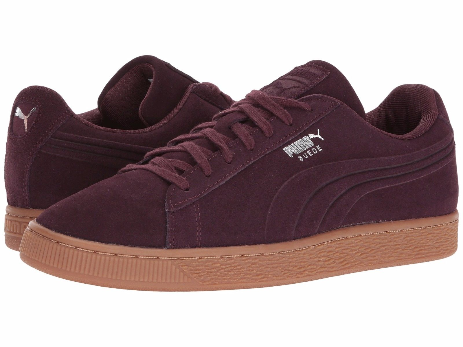 Mens Shoes Puma Suede Classic Debossed Q4 Sneakers 361098-03 Winetasting *new*