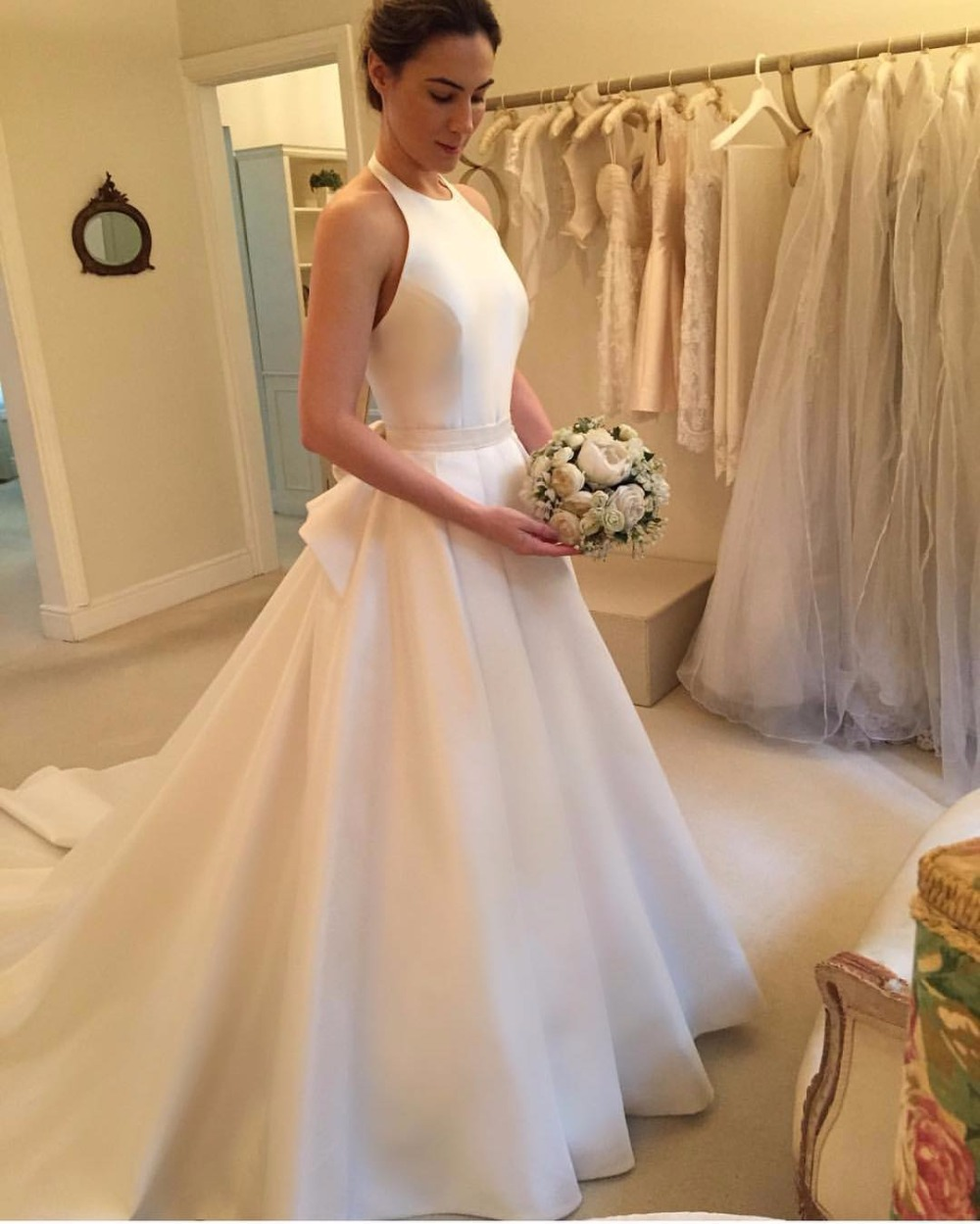 3a06615af303 Ivory Wedding Dresses,Halter Open Back Wedding Dress,Wedding Gowns,Affordable  Bridal Dresses