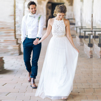 Wedding Dressesbeach Wedding Dresseswhite Lace Tulle Wedding