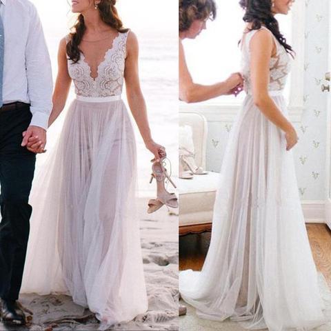 Beach wedding dress long wedding dress affordable wedding dress beach wedding dress long wedding dress affordable wedding dress tulle wedding dress junglespirit Images