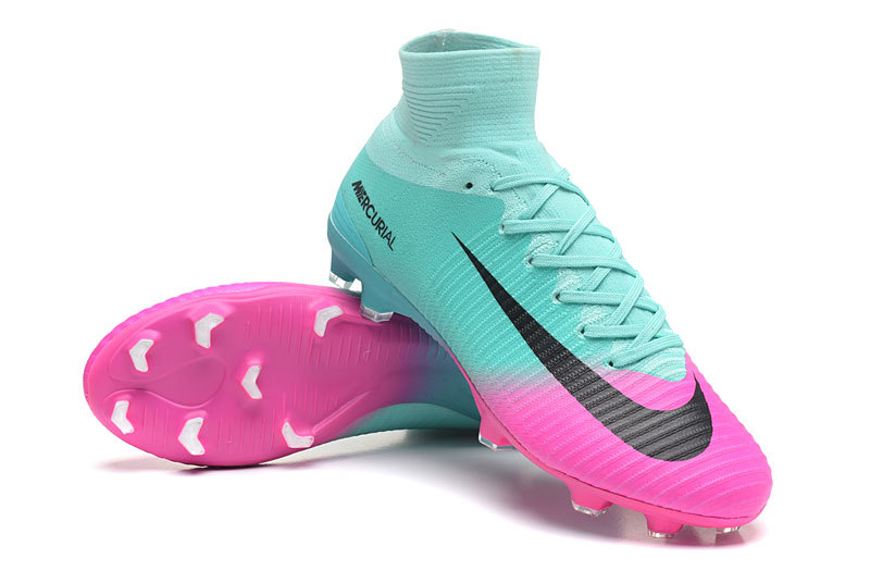Nike Mercurial Superfly V Fg Pink Black Blue Soccer Cleats