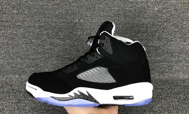 """Air Jordan 5 V Retro """"oreo"""" Black White Men Shoes"""