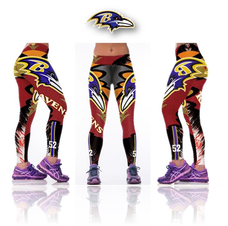 6f4d6121488a8 New Baltimore Ravens NFL Women Leggings Fitness Sports Gym on Storenvy