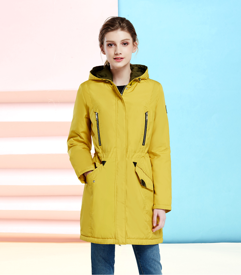 New Brand Clothing Women Spring Autumn Parka Womens Long Thin Jacket With Hat Detachable Warm Coat 16g262d