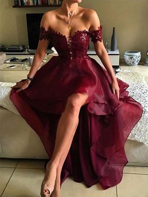 c81ec5800ea6 W91 Princess Sleeveless Off-the-Shoulder Asymmetrical Applique Organza  Dresses · WonderfulGowns · Online Store Powered by Storenvy