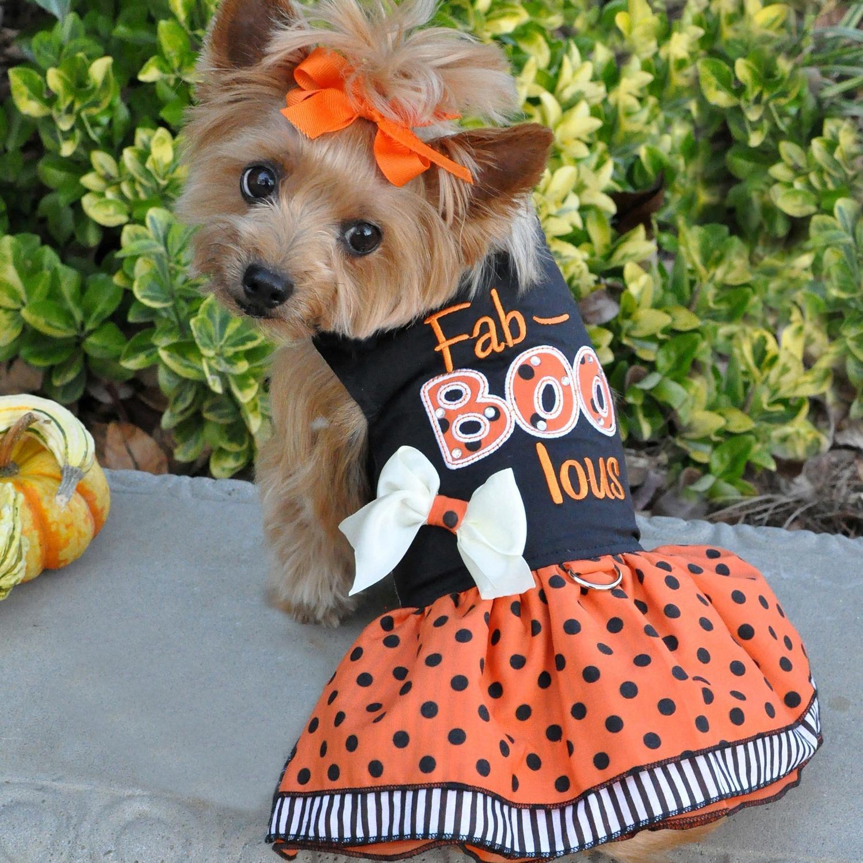 Halloween Dog Harness Dress