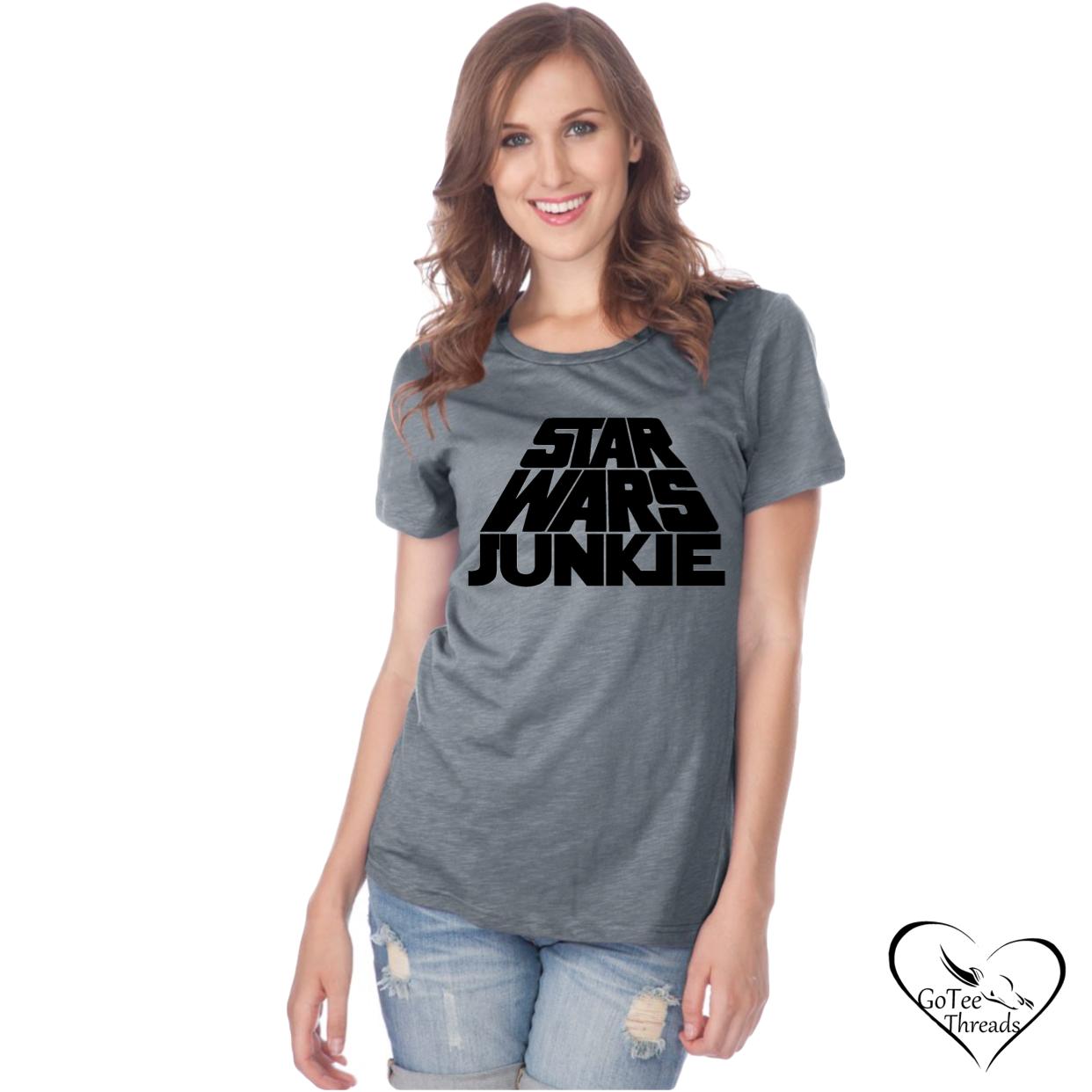 Star Wars Junkie Mens Womens Adult Tee Shirt