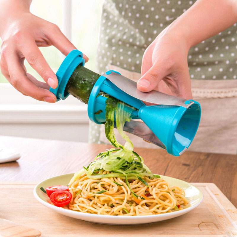 Vegetable Fruit Spiral Slicer Spirelli Graters Carrots Spiralizer Vegetable Cutter Slicer Kitchen Gadget