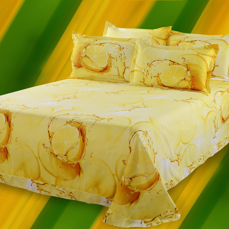 Hot 3d Bedding Set 4pcs Printing Clouds Bedclothes Duvet Cover Bed Sheet Pure Cotton Comforter Bedding Sets