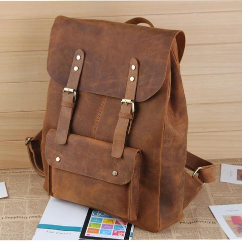 Large Handmade Vintage Leather Backpack Leather Satchel