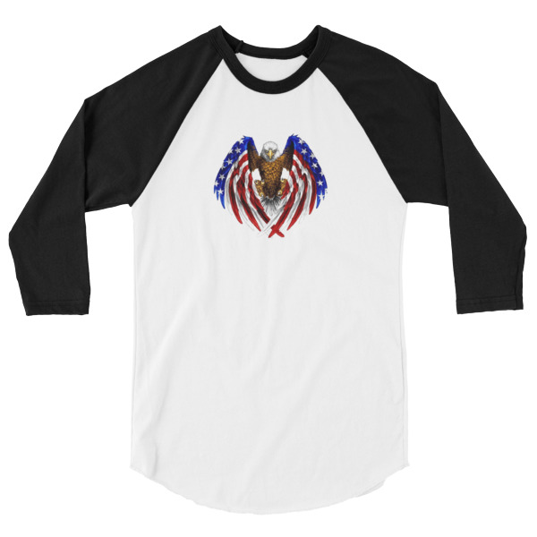 Eagle American 3/4 Sleeve Raglan Shirt