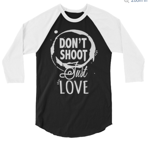 Mens Dont Shoot Raglan Tee Black
