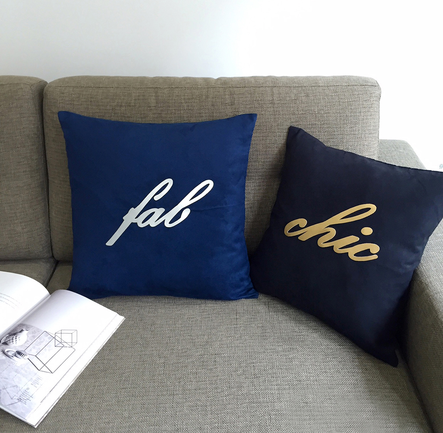 Custom Your Color. Handcut Metallic Fab Gold Chic Navy Black Pillow Cover Cushion Cover. Modern Statement Cushion Cover
